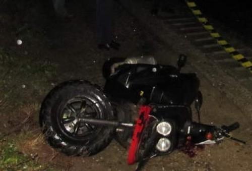 S-a răsturnat cu mopedul în șanț