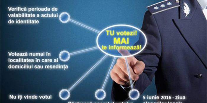 Campania de informare – Tu votezi, MAI te informează