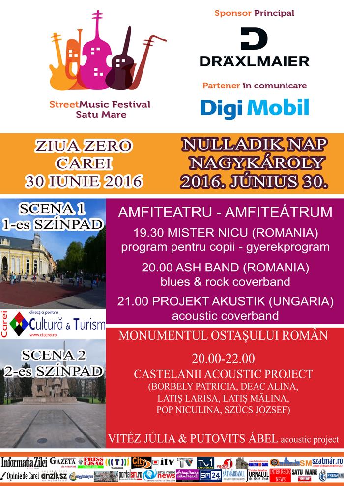 StreetMusic Festival, Ziua Zero, la Carei