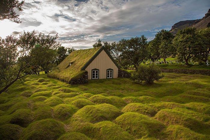 Case cu acoperișuri verzi care par a fi desprinse din basme (Galerie foto)