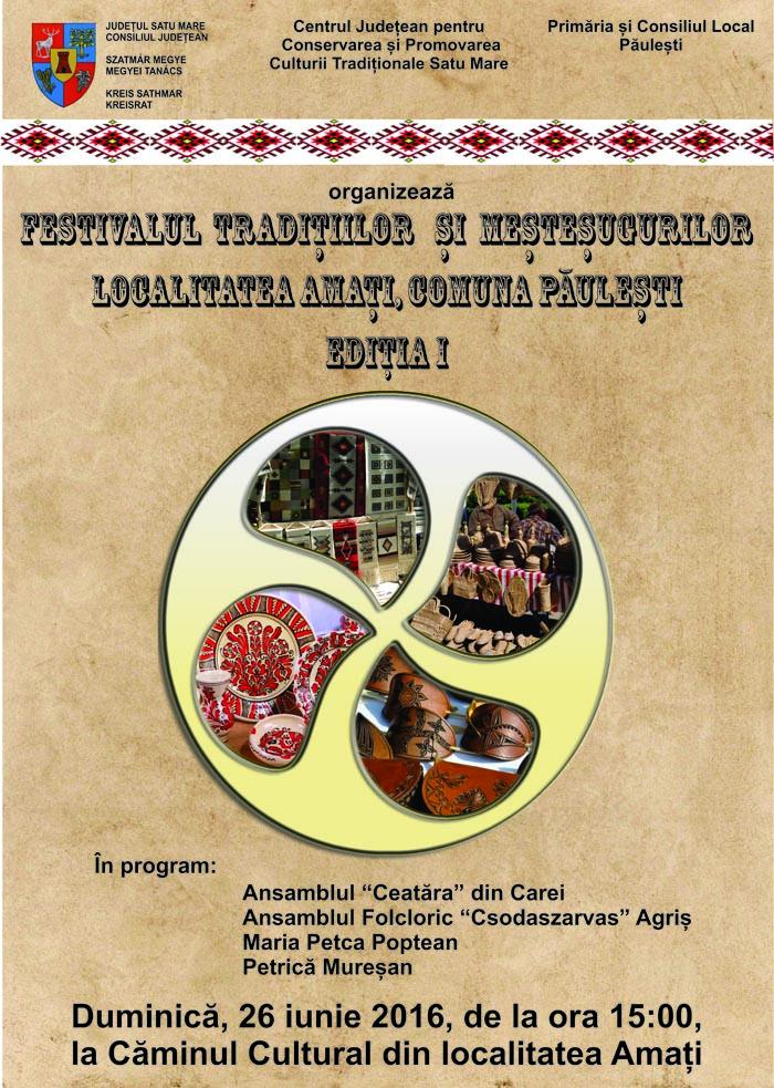 Festivalul Tradițiilor și Meșteșugurilor, la prima ediție