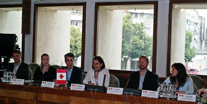Delegație din Canada, în vizită la Prefectură