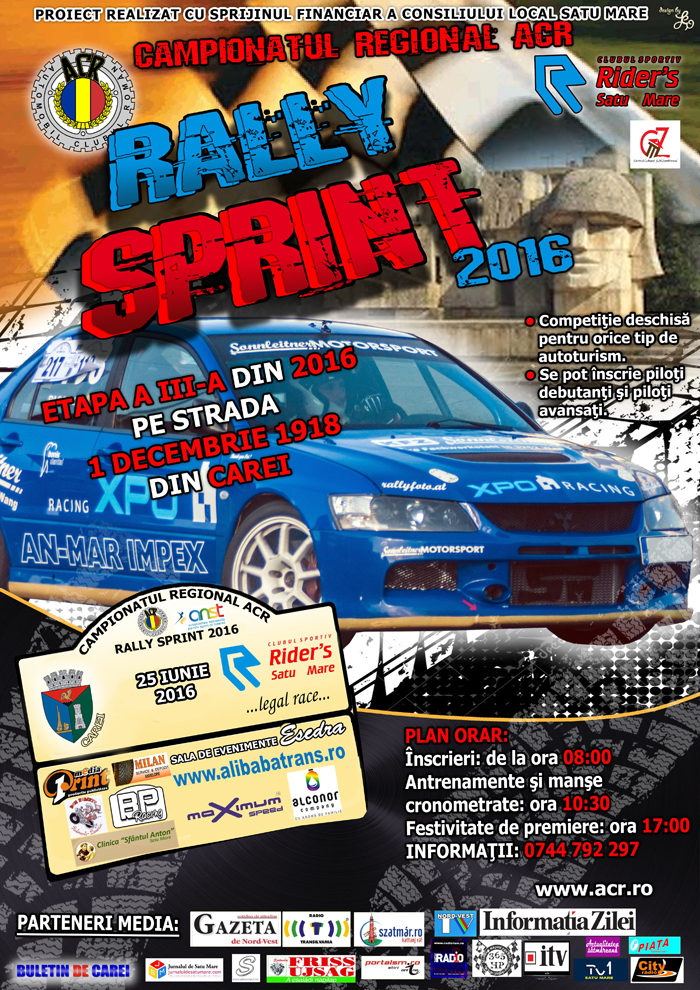 Campionatul Regional ACR de Rally Sprint, sâmbătă, la Carei