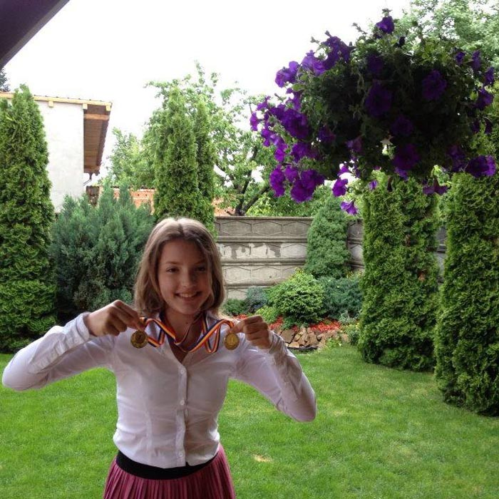 Ioana Roman, felicitată de președintele Klaus Iohannis