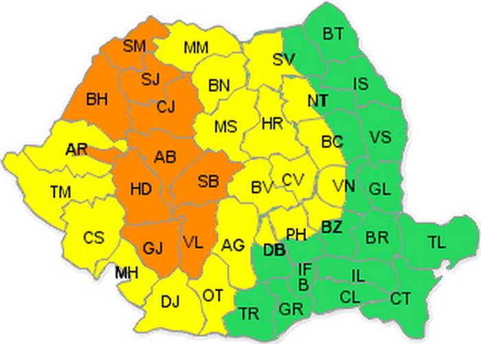 Meteorologii anunță ploi torențiale în județul Satu Mare