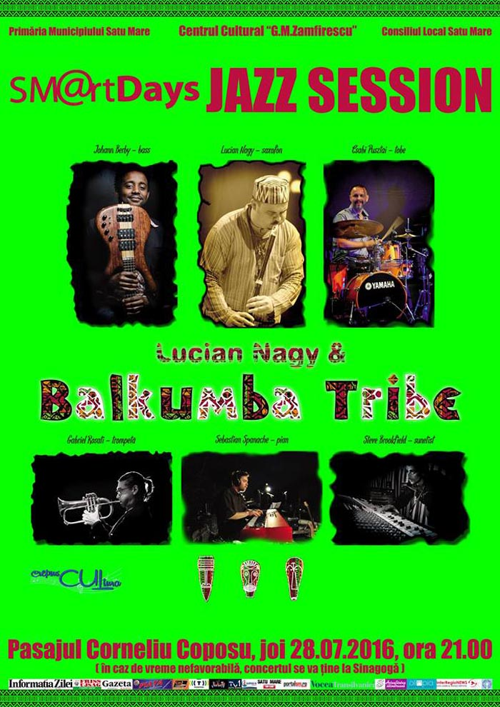 Concert de jazz în centrul municipiului Satu Mare (Video)