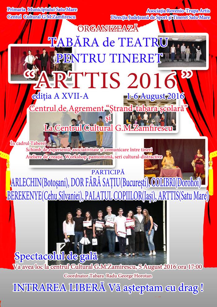 """Tabăra de teatru """"Arttis"""" a ajuns la ediția cu numărul XVII"""