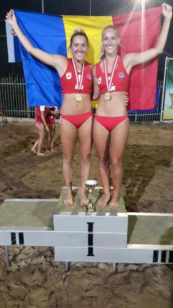 Sătmărencele Adriana Matei și Beata Vaida, campioane balcanice la volei pe plajă