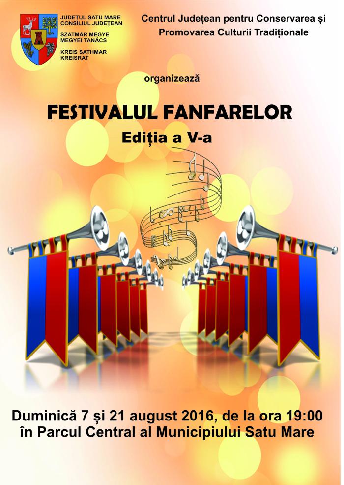 """""""Festivalul Fanfarelor"""" în municipiul Satu Mare"""