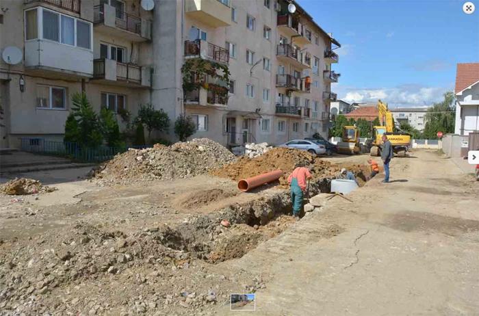 Negrești-Oaș: A început modernizarea străzilor din Cartierul Decebal
