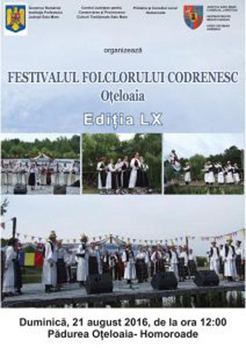 """Festivalul Folcloric Codrenesc """"Oțeloaia"""", la a 60-a ediție"""