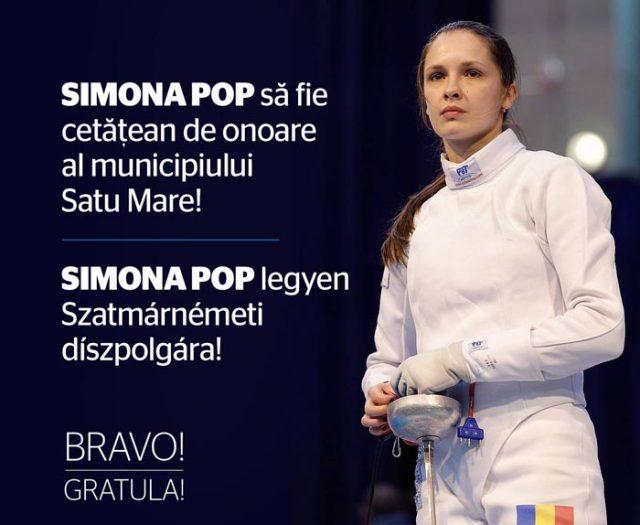 """Consilierii invitați să voteze acordarea titlului de """"Cetățean de Onoare"""" spadasinei Simona Pop"""