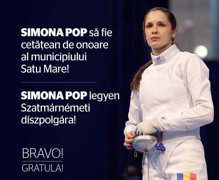"""Kereskenyi Gabor: """"Simona Pop merită să devină cetățean de onoare al municipiului Satu Mare"""""""