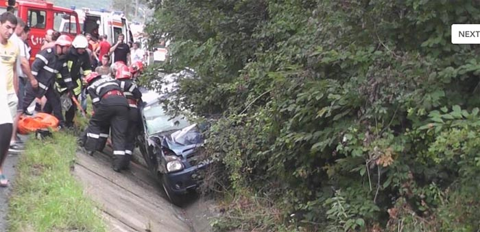 Sătmăreni răniți într-un accident pe Meseș (Foto)