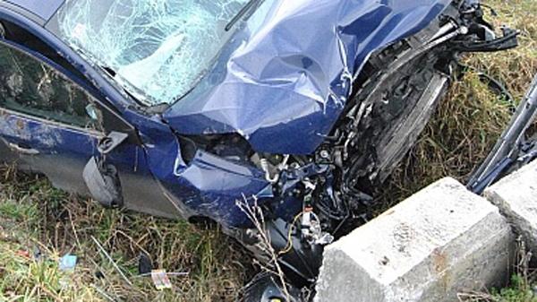 Accident cu doi răniți la ieșirea din Socond