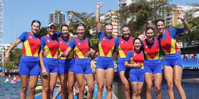 Rio 2016 – Canotaj: Medalie de bronz pentru echipajul feminin de 8+1 al României