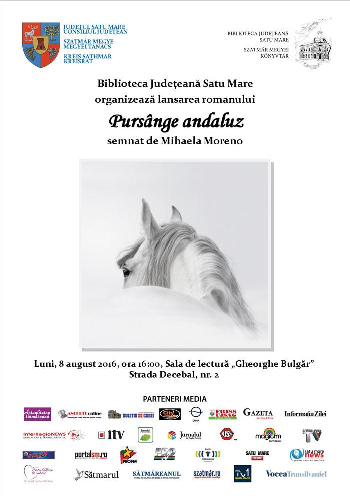 Sătmăreanca Mihaela Moreno își lansează romanul la Biblioteca Județeană