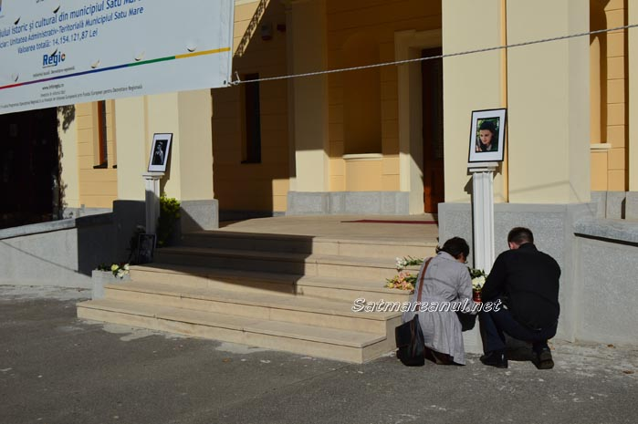 Alexandra Saska Sotirov și Iosif Ahmed, comemorați în fața Teatrului de Nord (Foto&video)
