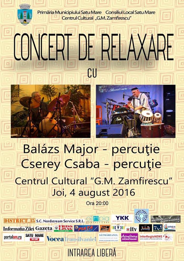Concert de relaxare cu Csabcsi