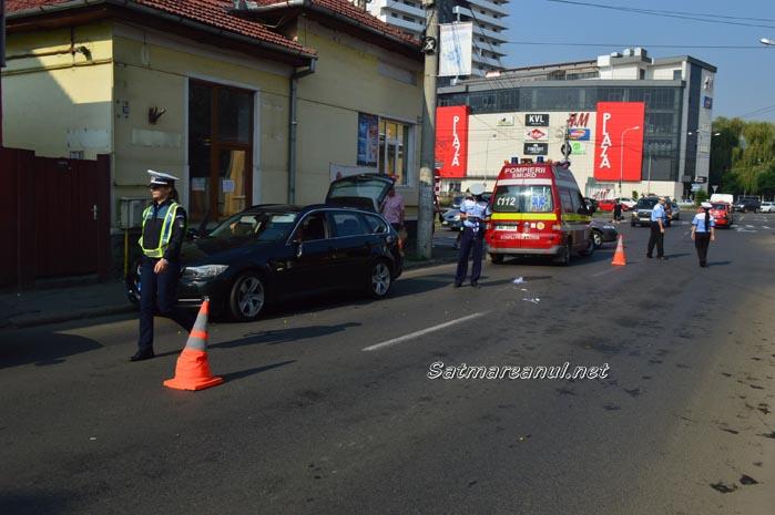 Bărbat accidentat în centrul Sătmarului (Galerie foto)