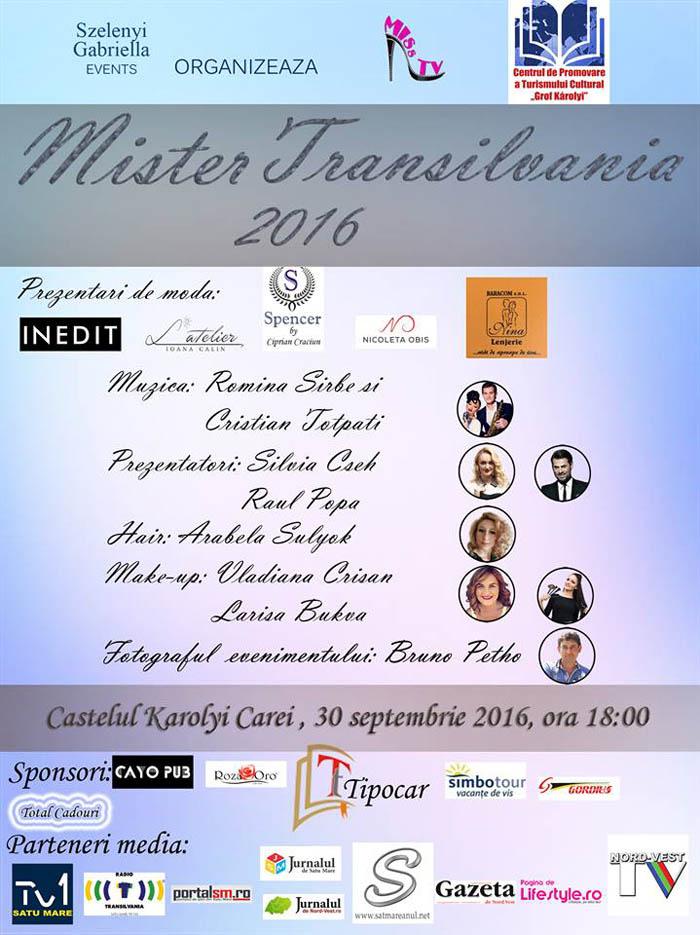 Mister Transilvania 2016. Organizatorii promit un show total la Castelul Karolyi