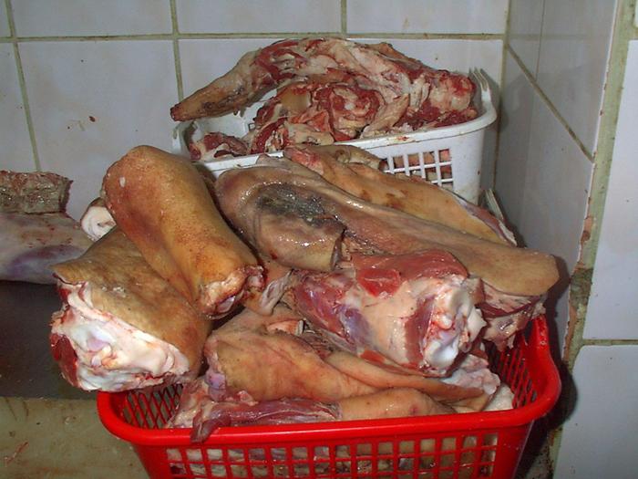 120 de kg de carne confiscate de inspectorii DSV