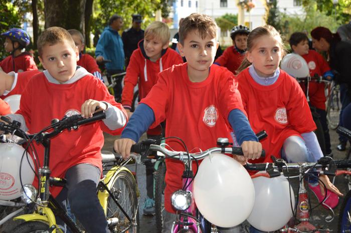 Concurs de biciclete pentru copii, organizat de OFSD (Foto)