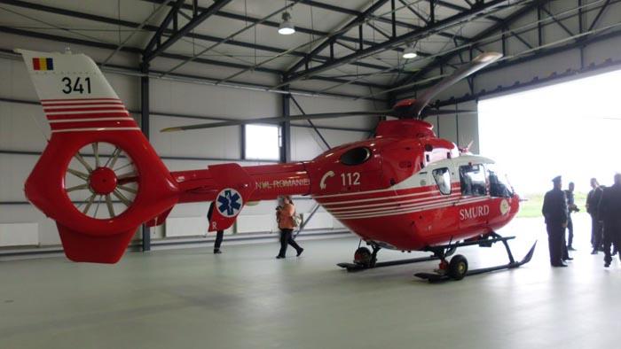 S-au finalizat lucrările la hangarul SMURD din Sălaj. Elicopterul va deservi și județul Satu Mare