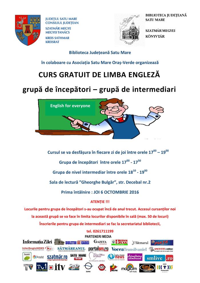 Vrei să înveți engleza gratuit ? Hai la bibliotecă