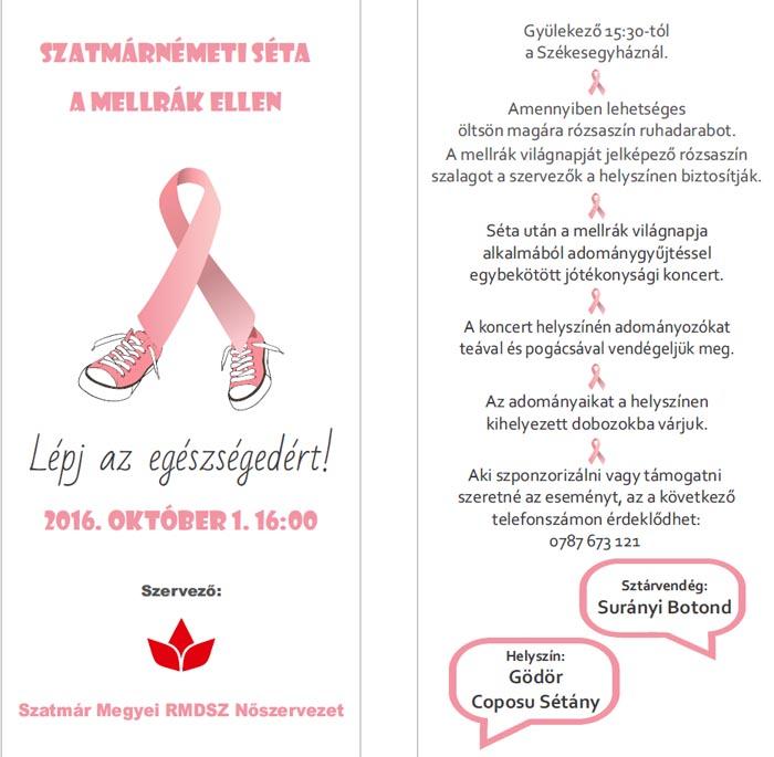 """Haideți să fim împreună de """"Ziua Internațională de Luptă Împotriva Cancerului la Sân"""""""