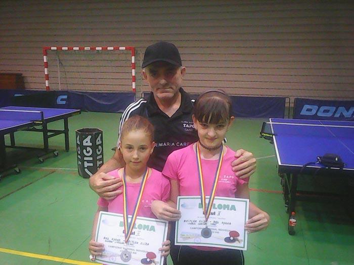 Două careience, vicecampioane naționale la tenis de masă