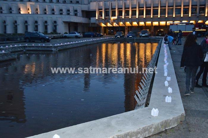 """""""Festivalul Luminii"""" în centrul Sătmarului (Foto)"""