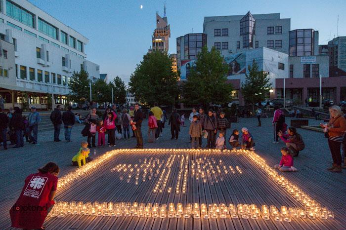 Stelele solidarității se vor aprinde și la Satu Mare