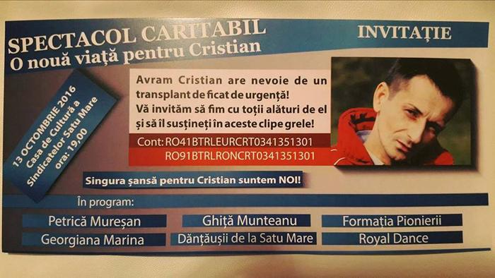 Hai să-l ajutăm pe Cristian !