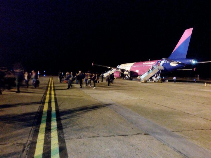 Prima cursă Wizz Air a ajuns la Satu Mare (Foto&video)