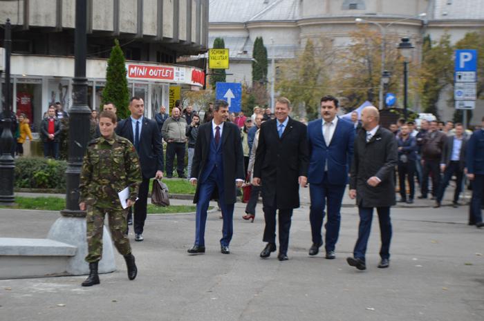 Președintele Klaus Iohannis, la Teatrul de Nord Satu Mare