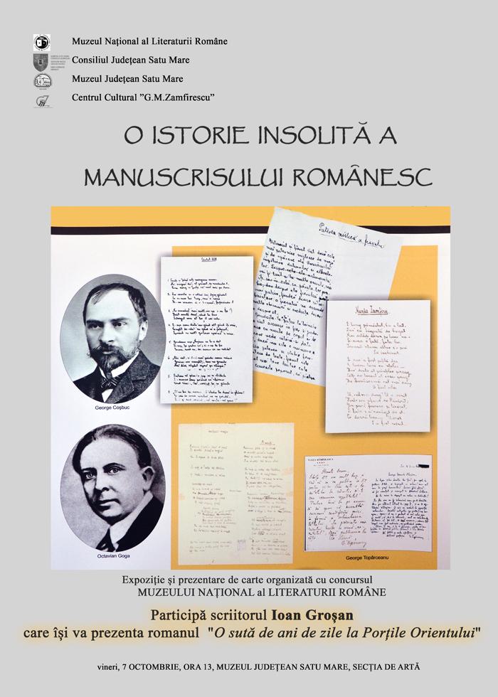 Povestea manuscrisului românesc, la Muzeul de Artă