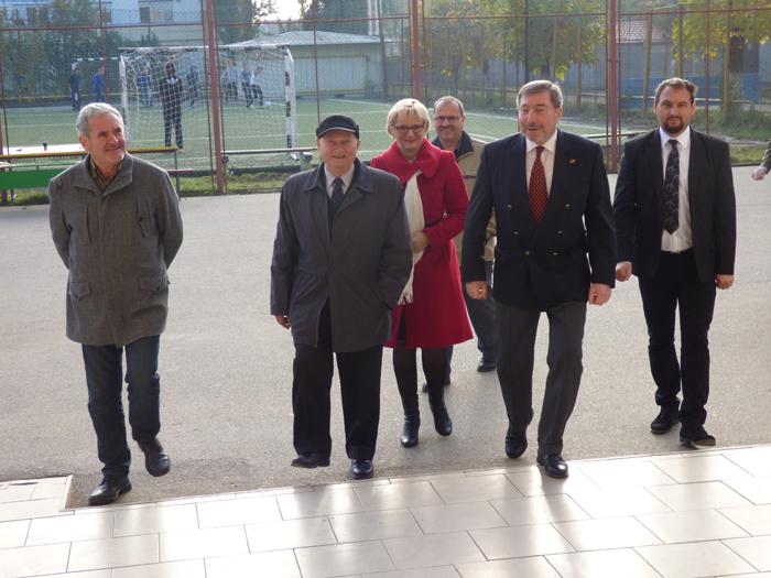 Ambasadorul Werner Hans Lauk, în vizită la Liceul German