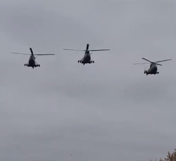 Elicoptere militare deasupra municipiului Carei. Vezi ce se întâmplă (Video)