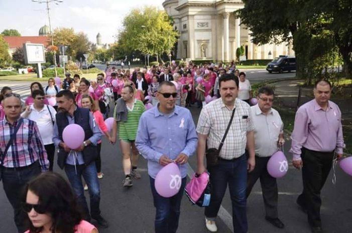 Marş împotriva cancerului de sân la Satu Mare