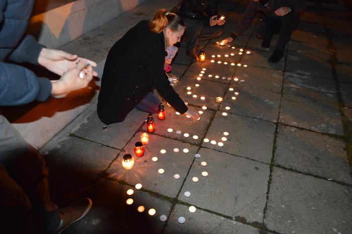 Marș de comemorare a victimelor de la Colectiv la Satu Mare (Foto&video)