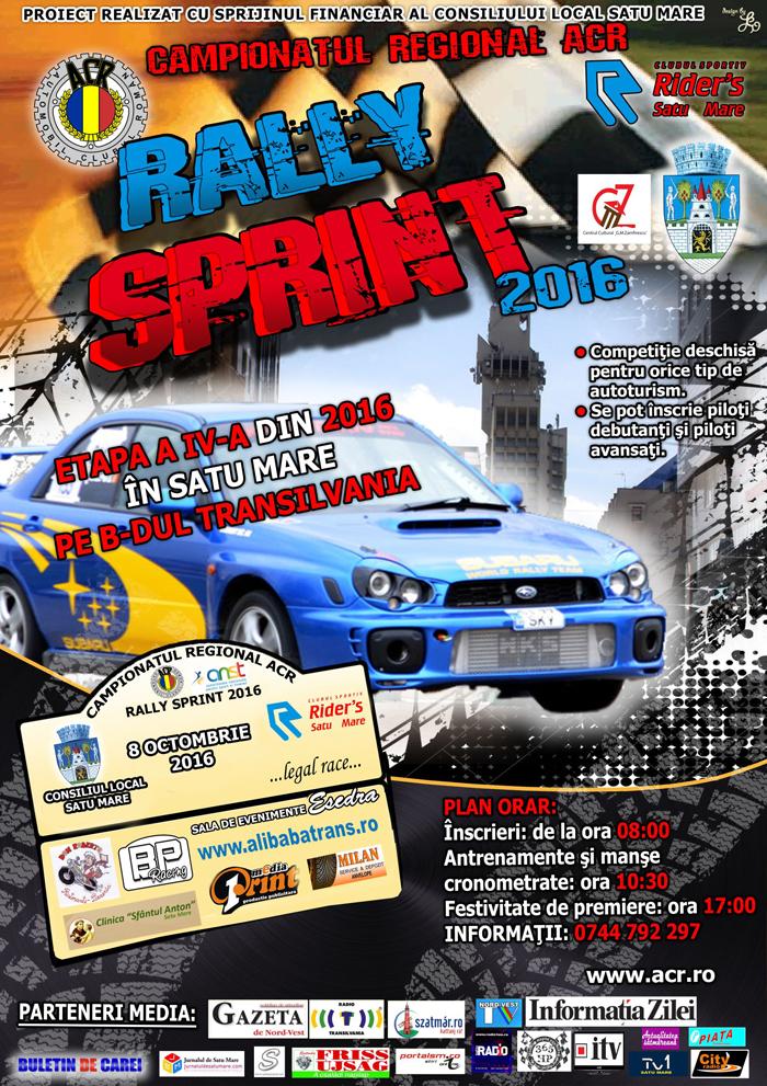 Motoare turate, sâmbătă, la Campionatul de Rally Sprint