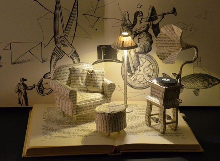 Sculpturi realizate din paginile cărților. Vezi cum arată (Galerie foto)