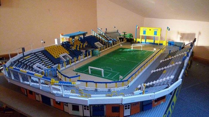 Cum arată Stadionul Olimpia făcut din piese Lego (Foto)