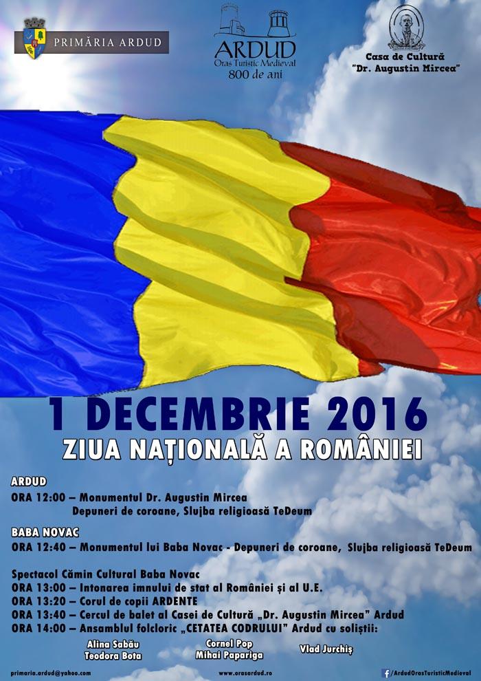 Ziua Națională a României va fi marcată și la Ardud