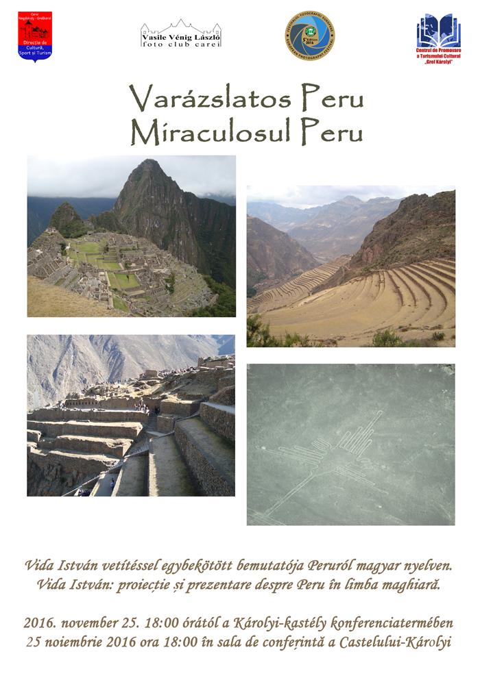 """Imagini din """"Miraculosul Peru"""", la Castelul din Carei"""