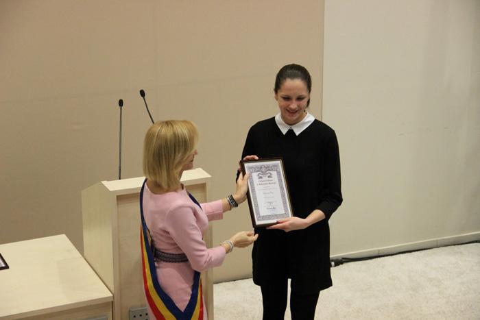 Simona Pop este Cetățean de Onoare al municipiului București (Galerie foto)