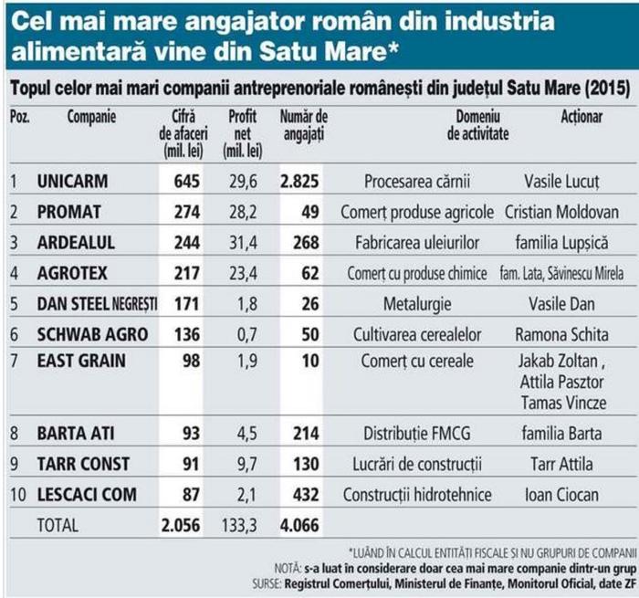 Vezi TOP-ul celor mai mari firme din județul Satu Mare