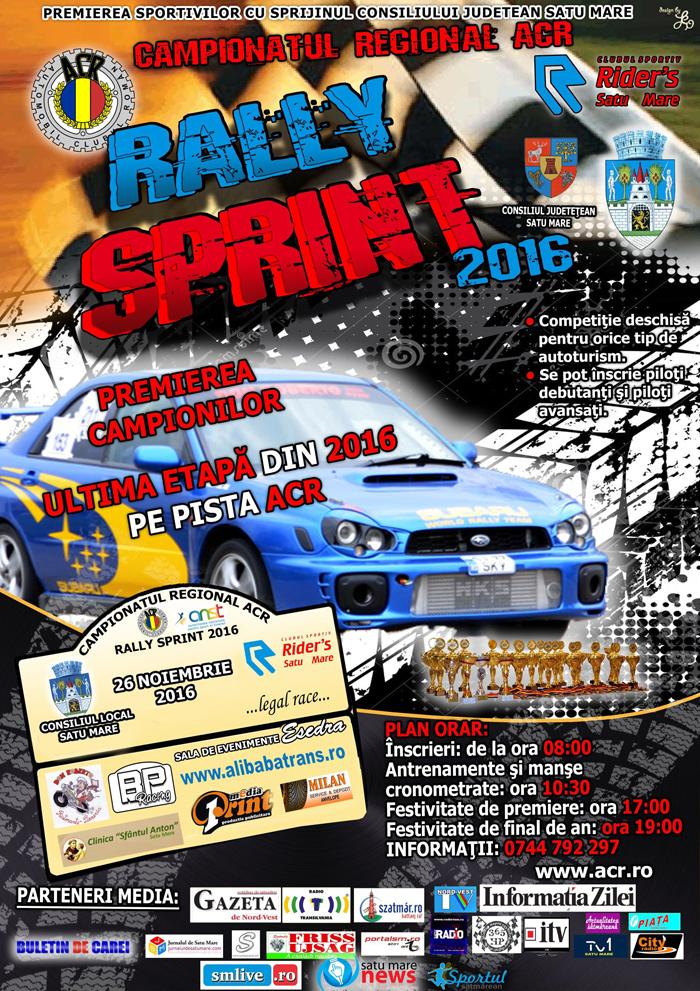 Rally Sprint, sâmbătă, la Satu Mare
