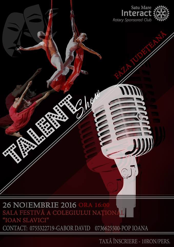 """""""Talent Show"""" pentru prima dată la Satu Mare"""